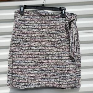 NWT LOFT colorful tweed faux wrap pencil skirt